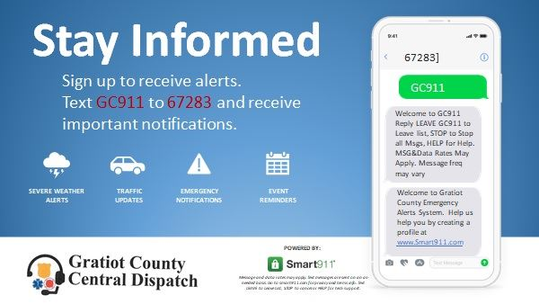 Stay Informed GC911 SMS Opt In Opens in new window